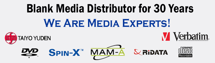 Blank Media Distributor for 30 Years We are Media Experts!