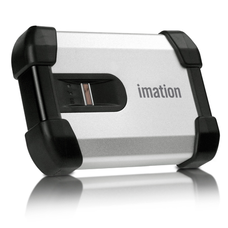IMATION Drive, USB, 250GB, 2.5in, Defender H200 Biometric, External Hard Disk Drive