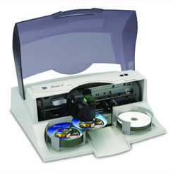 Burn and print CDs and DVDs with the Primera Bravo II CD DVD Disc Publisher