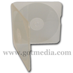 Square CD DVD Poly Case holds 1 disc