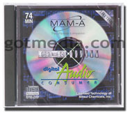 CD-R for digital audio, full line of digital audio cd-r from Spin-X  and MAM-A