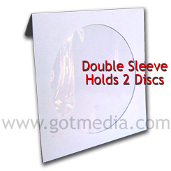 Double CD White Paper Sleeve with Window and Flap