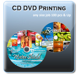 Custom printed CD-R or DVD-R