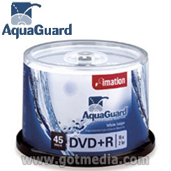 IMATION DVD+R 16x, 4.7GB, White Inkjet printable surface with AquaGuard™ surface - 26219 (formerly 23132)