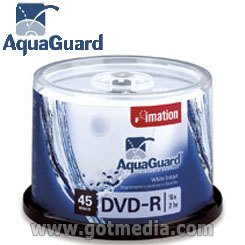 IMATION DVD-R White Inkjet printable surface with AquaGuard™ surface - 26220