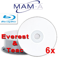 MAMA Blu-ray, White Everest Thermal hub Printable, 25 pack beehive