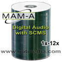 MAM-A Digital Audio CDR 11272, White Inkjet