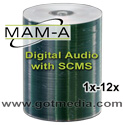 MAM-A Digital Audio CDR 11278, Silver Inkjet