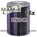 MAM-A Mitsui DVD-R 16x, Silver Thermal Printable 163119 - 100 pack