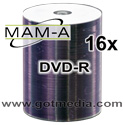 MAM-A Mitsui DVD-R 16x, White Inkjet  Printable 163121 - 200 pack