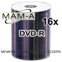 MAM-A Mitsui DVD-R 16x, White Thermal Printable 163131 - 100 pack