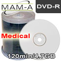 MAM-A (Mitsui) CD-R, Medical -  White Inkjet Printable - 163776 - 200 Pack