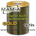 MAM-A Gold Digital Audio CD-R, Gold Matte Finish Thermal - 11353