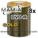 MAM-A Mitsui Gold DVD-R, Inkjet Printable 83443 - 200 pack