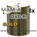 MAM-A Mitsui Gold DVD-R, Inkjet Printable 83443 - 100 pack