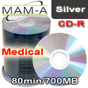 MAM-A (Mitsui) CD-R 80min 700mb Medical - Shiny Silver - 43759 - 200 Pack