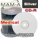 MAM-A (Mitsui) CD-R 80min 700mb, White Inkjet Printable - 43760 - 200 Pack