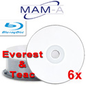 MAMA Blu-ray BD-R, White Thermal Hub Printable Everest and P-55