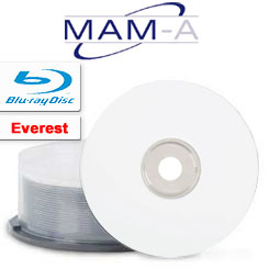 MAMA Blu-ray, 25GB, White Everest Thermal non hub Printable, 25pcs beehive - 23755