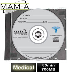 MAM-A Medical, CD-R 74, 650MB, with MAM-A Logo - Jewel Case - 40214
