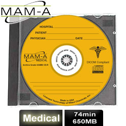 MAM-A Medical Gold Archive, CD-R 74, 650MB, with MAM-A Logo - Jewel Case - 40214