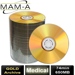 MAM-A Medical Gold Archive, CD-R 74, 650MB, with No Logo - 45006