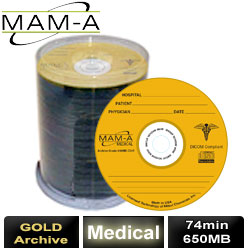 MAM-A Medical Gold Archive, CD-R 74, 650MB, with MAM-A Logo - 45890
