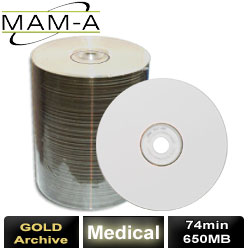 MAM-A Medical Gold Archive, CD-R 74, 650MB, with MAM-A Logo - 41890