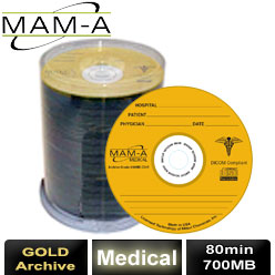 MAM-A Medical Gold Archive, CD-R 80min 700MB, with MAM-A Logo - 45447
