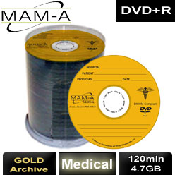 MAM-A Medical Gold Archive, DVD+R 120min 4.7GB, with MAM-A Logo - 83460
