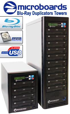 Microboards Blu-ray Tower Duplicators