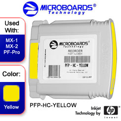 Microboards MX-1, MX-2, PF-Pro Ink Cartridge - PFP-HC-YELLOW