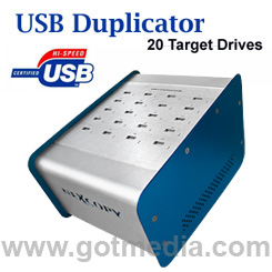 Copy up to 20 USB Flash Drives at once.