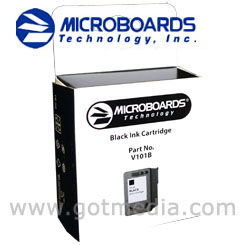 Microboards Print Factory III OR CX-1 Black Ink Cartridge, V101B