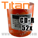 Titan CD-R 52X, 700MB, Silver Shiny, Metalized hub (T5881187) - 100 Pack