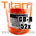 Titan CD-R 52X, 700MB, White Inkjet Hub Printable, Metalized Hub - T5881189