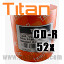 Titan CD-R 52X, 700MB, Silver Inkjet Hub Printable, Metalized Hub (T5881190) - 100 Pack