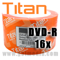 Titan DVD-R 16X, 4.7GB, White Inkjet Hub Printable, Metalized Hub (T6891189) - 100 Pack
