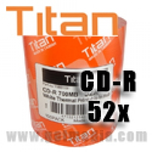 Titan CD-R 52X, 700MB, White Thermal Hub Printable, Metalized Hub - T5881191