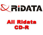 Complete line of Ridata CD-R