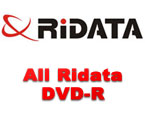 Complete line of Ridata DVD-R