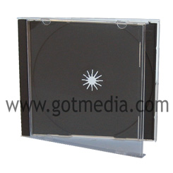 Standard CD Jewel Case Assembled with Black Tray