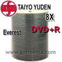 Taiyo Yuden DVD+R 8x, White thermal Hub Printable 100 pack
