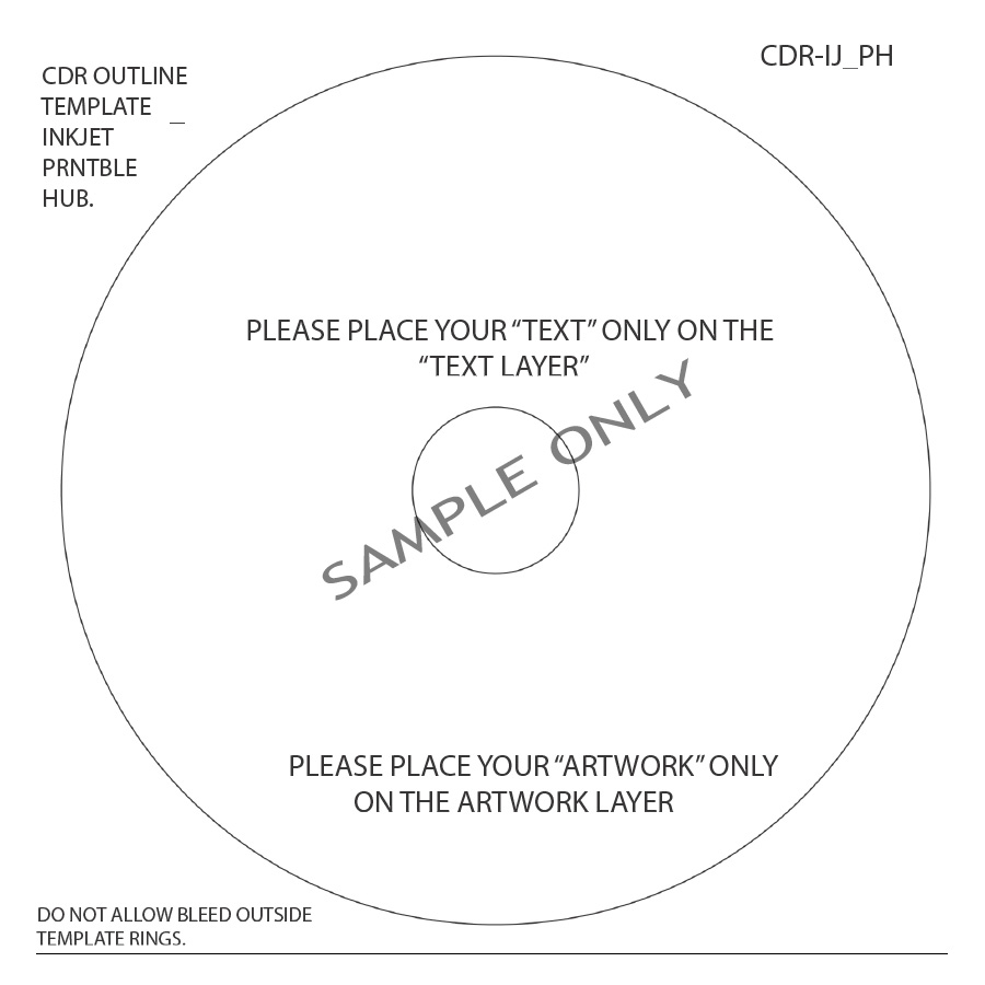 template for cd