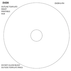 DVDR Outline Themplate Inkjet Hub Printable
