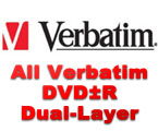 Verbatim DVD-R, DVD+R, 16x and 8x