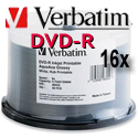 Verbatim DVD-R AquaAce Waterproof Inkjet Printable - 100 Pack