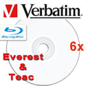 Verbatim Blu-ray 6X DataLifePlus White Thermal Printable, 97338
