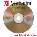 Verbatim Gold Archival CD-R 52x, 700MB Branded Surface - 96319 - 30 pack
