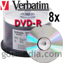VERBATIM DVD-R 8X, 4.7GB Shiny Silver Thermal Print Surface 94852